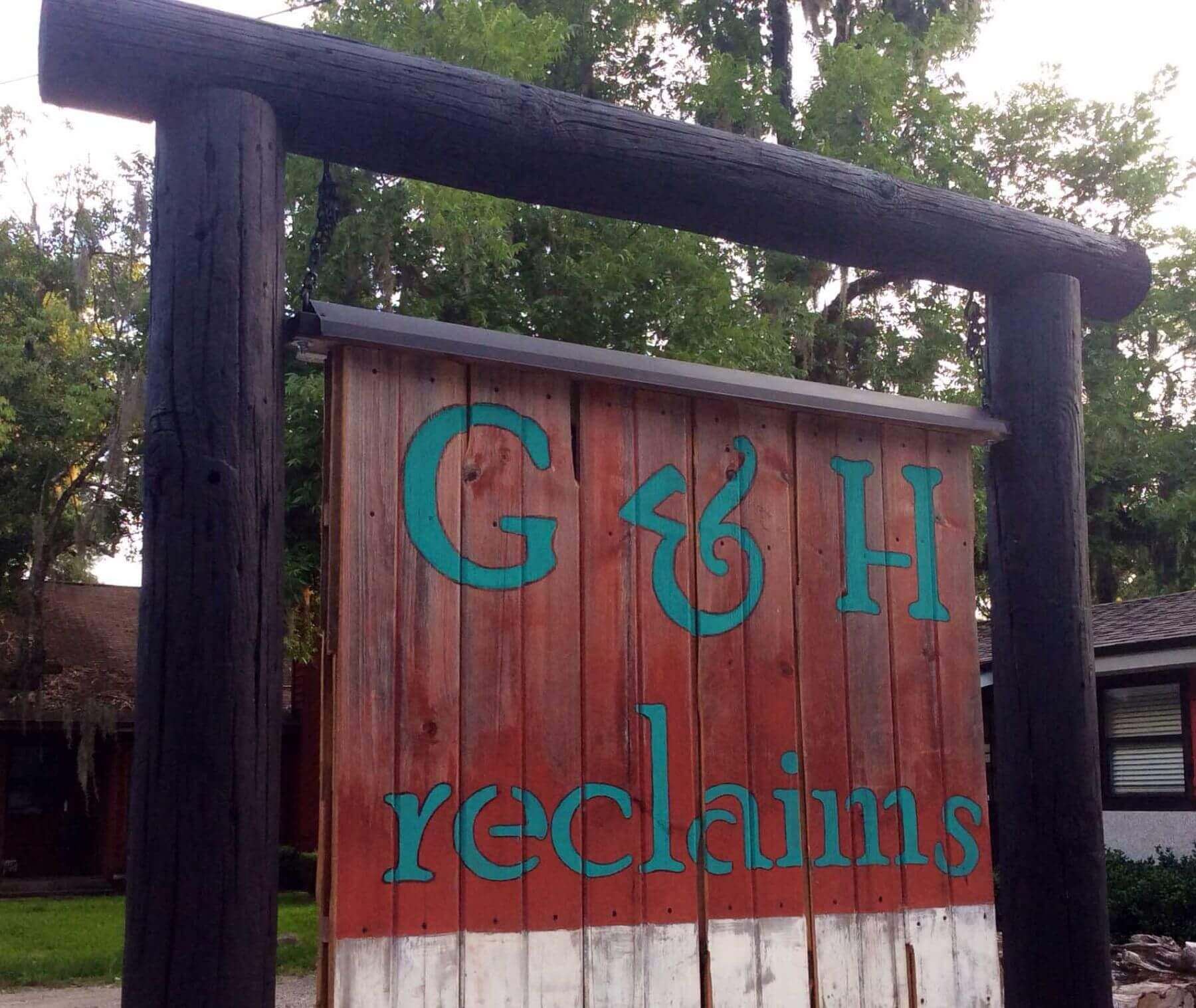 G&H Reclaims Sign, reclaimed barn wood