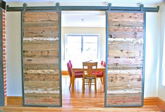 Barnwood doors offer a uniquely warm and rustic feel to your home whether reconstructed into a door panel or by using the originally designed door. a ... & Barnwood Doors | Gu0026H Reclaims