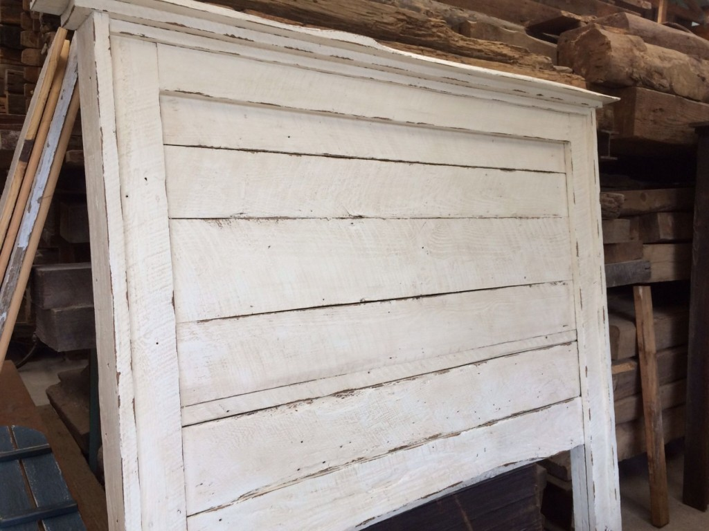 Reclaimed barn wood shabby chic headboard